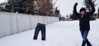 Calgary : il fait tellement si froid que vous pouvez jouer au frisbee avec vos vêtements !
