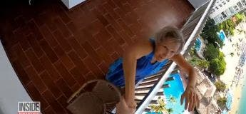 Une grand-mère porte secours à un base jumper qui s'est planté dans un immeuble !