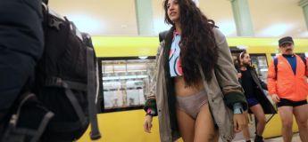 Des usagers du métro sans pantalon ont bravé le froid (et la grève)