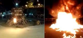 L'allumage des feux de joie tourne au drame en Italie