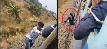 Un homme a chuté d'un train en mouvement et s'en sort indemne (choc)