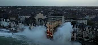 Tempête Ciara : des images surprenantes des marées à Saint-Malo filmées par un drone !