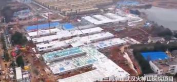 L'hôpital de Wuhan construit en quelques jours : retrouvez la vidéo en accéléré
