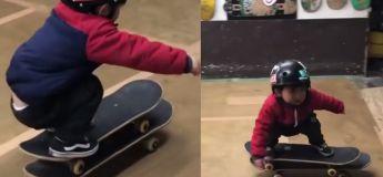 Alors que nous, à son âge, nous ne pouvions pas marcher proprement, cet adorable petit skateur va sérieusement vous impressionner !