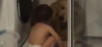Vidéo : un petit garçon réconforte son chien apeuré pendant un orage et c'est trop mignon