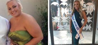 Elle passe d'obèse à Miss Grande-Bretagne grâce à une rupture avec son fiancé !