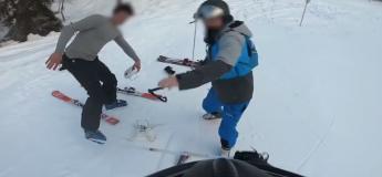 Un drone a failli toucher un skieur, ce dernier l'a détruit devant son propriétaire