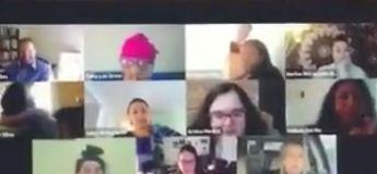 Elle a oublié d'éteindre sa webcam pendant une réunion de télétravail et le pire arrive !