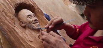 Découvrez cette vidéo montrant le travail de cet artiste en sculptant un portrait de Kobe Bryant dans le bois