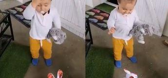 """Tandis que l'enfant n'a pas aimé le """"chaud"""" lapin de la vidéo, les internautes par contre ont été amusés"""