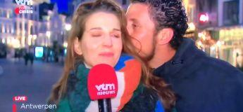 Un homme est arrêté après avoir embrassé une journaliste en plein reportage sur le Coronavirus