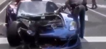 Le propriétaire d'un Gemballa Mirage GT (750.000 €) a été arrêté après avoir bien foutu le bordel en ville !