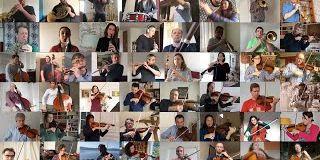 L'orchestre national de France nous fait le cadeau de jouer un morceau en télétravail