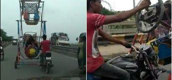 Un homme transforme un vélo 2 places en « voiture 4 places » avec du vrai DIY