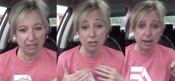 Une femme fond en larmes à l'idée de porter un masque et de ne pouvoir étreindre les bébés des gens