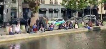 Les parisiens en apéro sur le Canal Saint Martin dès le déconfinement, sans respecter les distances de sécurité