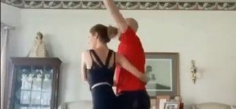 Vidéo amusante : une magnifique danse de couple se termine par une séance de rigolade