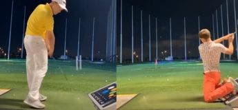 Ce golfeur arrive à envoyer des balles avec beaucoup de style avec le club et dans diverses positions