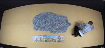 Il a fallu près de 500 heures étalées en une année, pour achever ce puzzle de 42.000 pièces