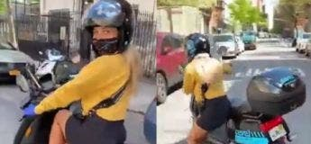 Elle voulait faire une superbe vidéo d'une jolie motarde, mais cela s'est mal passé