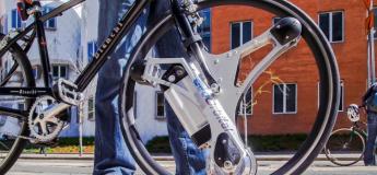 Cette roue transforme votre vélo classique en vélo électrique en 60 secondes