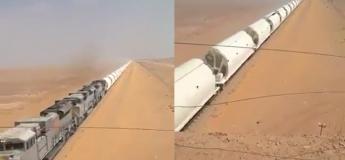 Voyez de quoi à l'air le plus long train du monde : un défilé sans fin de wagons !