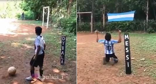 Ce jeune footballeur marque des buts incroyables comme Messi, Ronaldo, Neymar et Dybala