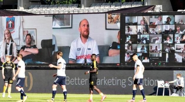 La Superliga danoise est de retour et les fans ont pu regarder leur match en direct sur la «tribune virtuelle» à travers Zoom