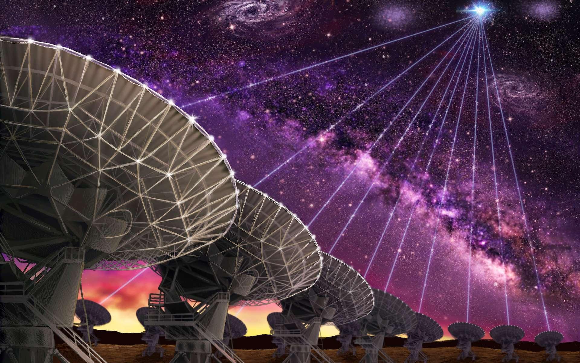 Des astronomes détectent des ondes radios de source inconnue