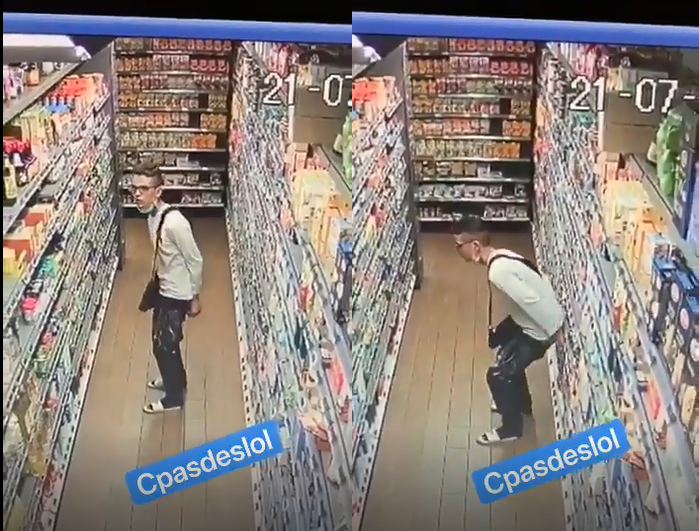 A Grenoble, ce jeune homme fait caca entre les rayons d'un magasin et se fait virer par le propriétaire