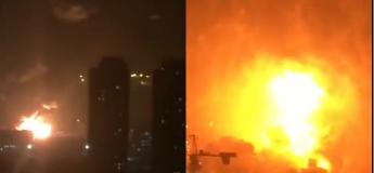 L'explosion spectaculaire en Chine d'une usine qui stockait 800 tonnes de nitrate d'ammonium