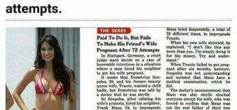 Il paie 2.500 euros son voisin pour qu'il mette sa femme enceinte mais il n'y arrive toujours pas après 72 tentatives