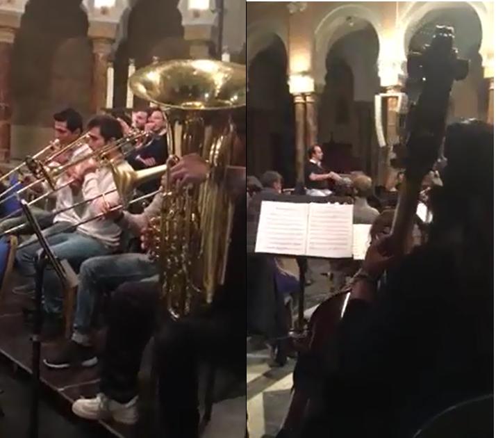 Cet orchestre s'amuse à faire un mix de Roméo et Juliette et Star Wars