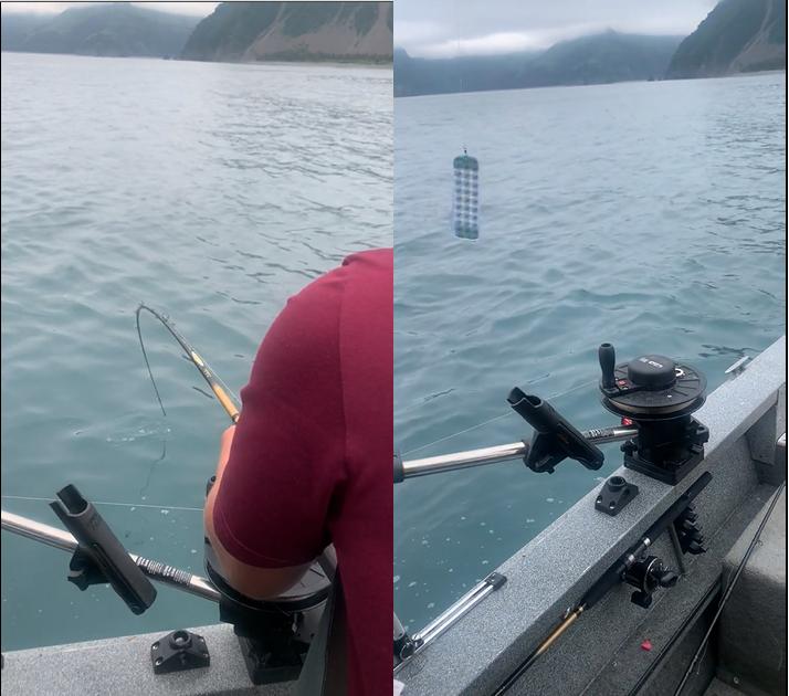 Ce pêcheur a eu une grosse frayeur en découvrant ce qu'il y a avait au bout de sa ligne