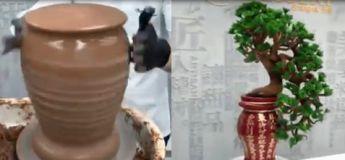 Cet artisan chocolatier réalise une magnifique sculpture de plante faite entièrement en chocolat