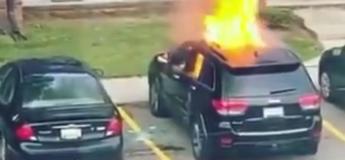 Cette fille aurait pu se tuer en incendiant une voiture, elle a reçu l'explosion en plein visage
