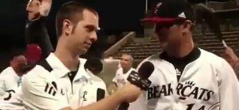 Cette équipe de baseball nous fait rire avec leur troll comme fond d'interview