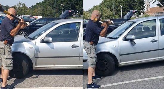 Un homme a cassé la vitre d'une voiture pour sauver un chien menacé par la température