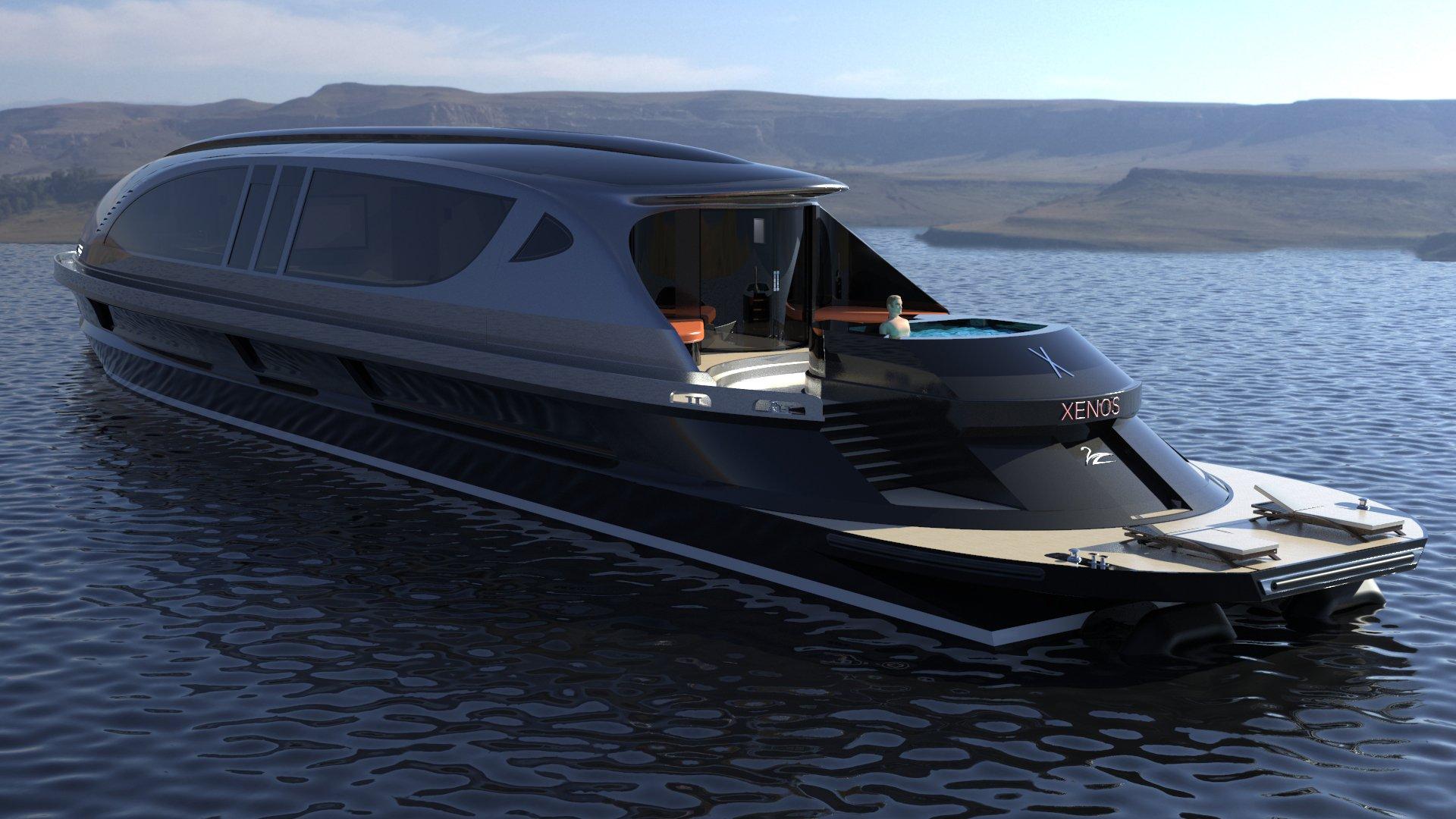 Si vous achetez ce yacht haut de gamme à 27 millions d'euros, on vous offre la Bugatti Chiron en cadeau