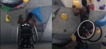 Cet homme réussit à faire de l'escalade même s'il est en chaise roulante