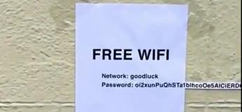 Un accès Wifi gratuit qui risque de vous dissuader assez vite !