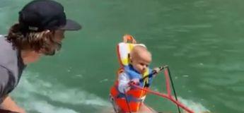 Un bébé de 6 mois et 4 jours fait du ski nautique, et bat le record du monde !