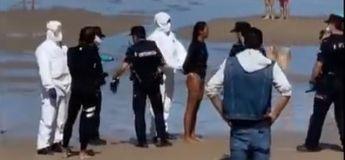 Espagne : une surfeuse testée positif au Coronavirus a été arrêtée sur la plage (vidéo)