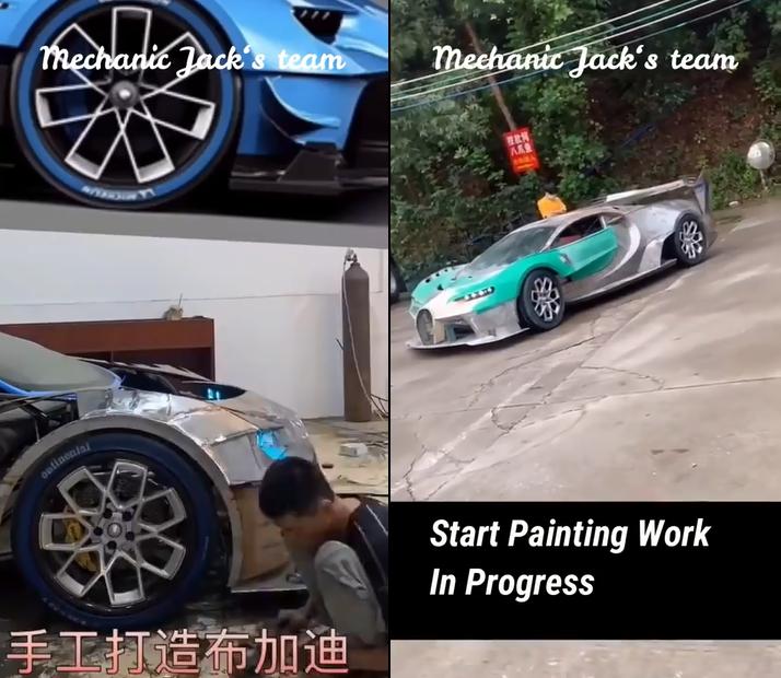 Il recrée la Bugatti Vision Gran Turismo à partir de pièces détachée et avec beaucoup de savoir faire !