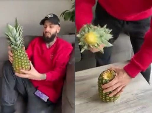 Une autre manière originale de manger un ananas sans le couper