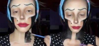 Impressionnante : en se maquillant, cette talentueuse femme se transforme en un personnage de film