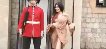 Regardez comment ce garde londonien a réagi par rapport à cette jeune femme qui voulait le distraire