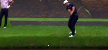 Golf : il fait ricocher sa balle sur l'eau de l'étang et va tranquillement conclure ce trou en un !