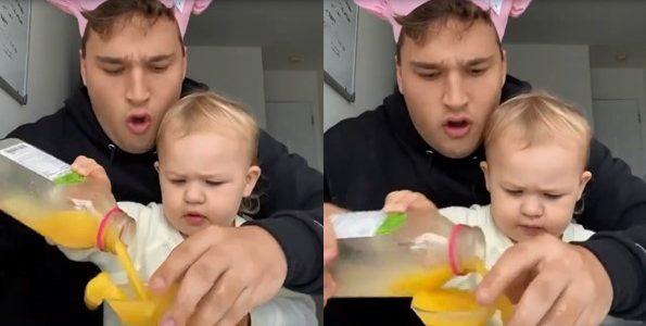 Il ne faut jamais laisser un bébé tout seul avec son oncle, la preuve dans la vidéo !