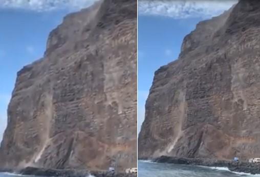 Une falaise des Canaries tombe dans la mer
